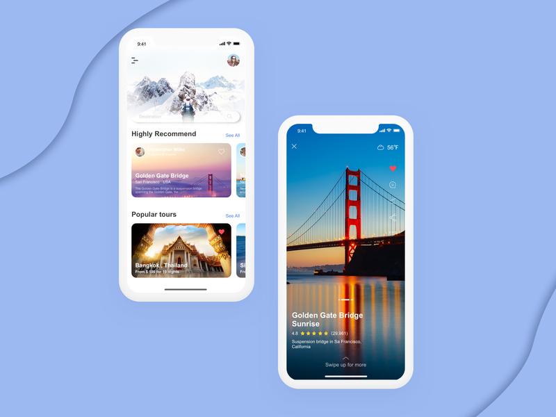 Trip ux ui design app