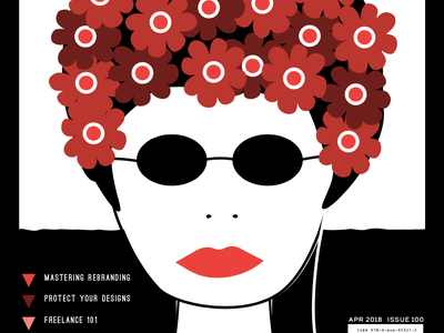 Milton Glaser style magazine cover vector illustration