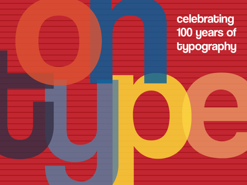 Typographical Postcard retro typography post card