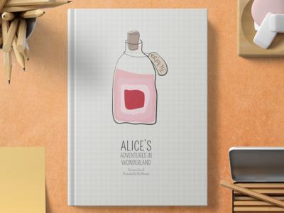 Drink Me vector book art illustration