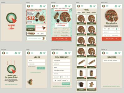 Pizza App screens logo app