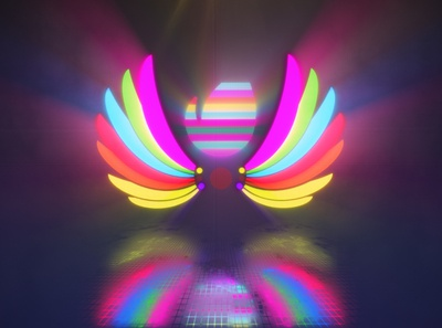 LED Lights Wings - After Effects Template
