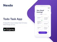 Todo list Tasks App - Minimal Clean Design
