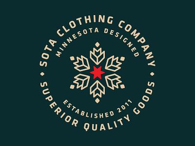 Sota Clothing  sota minnesota snowflake leaf badge patch star logo cloths