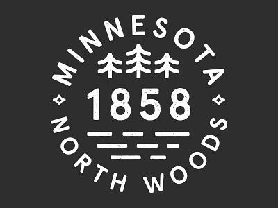 Minnesota north Woods  north woods north woods water logo tree minnesota sota
