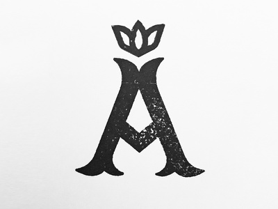 Apiarist flower honey crown a stamp logo