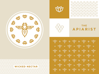 Bees at work II by Dizzyline on Dribbble