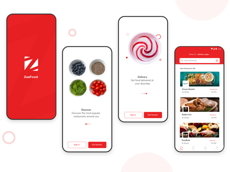 food ordering visual design designthinking designer onboarding delivery app food app abroad uxdesign ux uidesign ui student design designs app