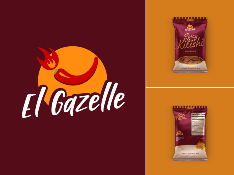 Elgazelle Logo packaging product brand identity graphics illustration logo branding designs design