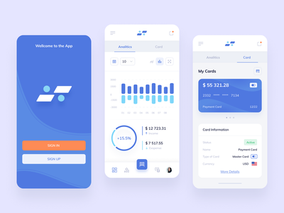 Bank - App product sing in banking finance ux ui payments app mobile bank credit card transactions money chart statistics dashboard ui  ux interface design