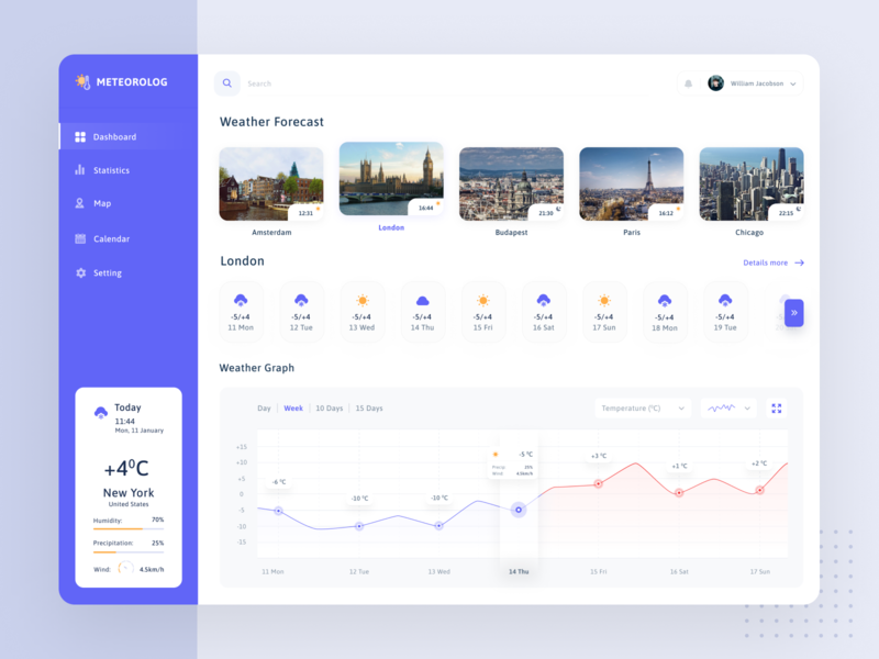 Weather Forecast product design weather app weather forecast weather design chart ui  ux statistics interface dashboard