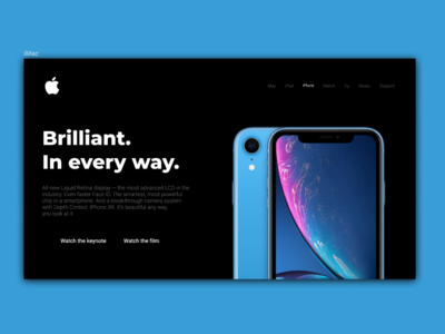 Apple iPhone X r landing page