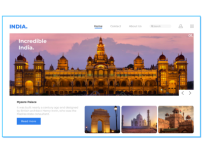 Monuments of India - Landing Page