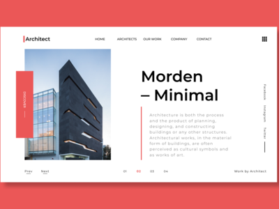 Architect - A Website Landing Page