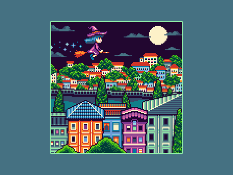 Portugal witch pixel portugal portugal architecture gaming game art background game design 8bit illustration pixelart 16bit pixel art