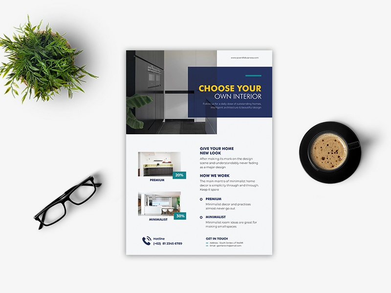 Interior Flyer typography psd template design flyer design logo trifold brochure template design indd template indd property brochure design real estate business promotion template business flyer illustration print template business brochure print corporate brochure