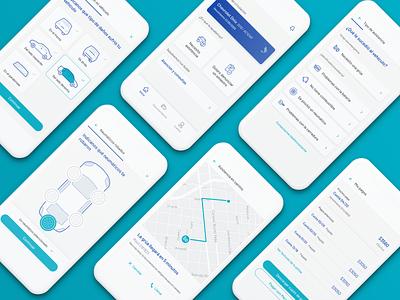 Seguros Sura - App de Autogestión design dashboard map icons cards components library illustrations mobile app platform aerolab insurance ui uxui ux web design product design mobile app