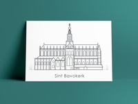 Illustration Sint Bavo Church