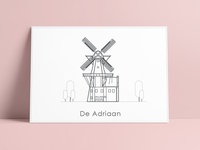 Illustration Windmill de Adriaan