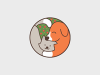 Dog and Cat simple illustration design pet design illustration veterinary cat veterinarian dog and cat dog pet logo pet care logo