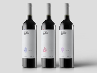 Ber & Co Selection Series bottles bottle white clean minimal red design packaging package wine