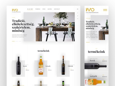 Ital Hungary responsive uidesign ui fresh white lines minimal homepage frontpage layout web website