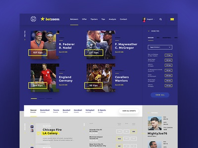 Betting website redesign webdesign web frontpage minimal purple blue fresh layout website ui