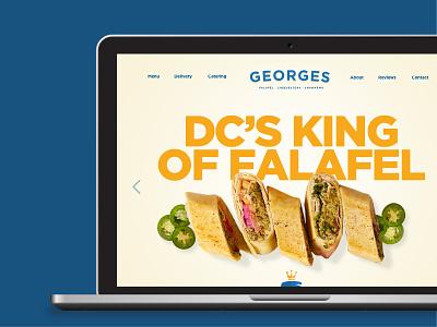 Georges DC branding web design website design