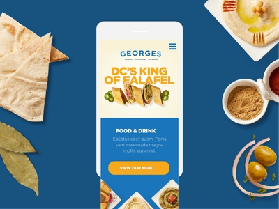 George's DC Mobile Web responsive mobile website