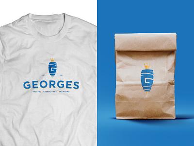 George's DC Branding king shawarma logo design branding