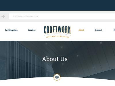 Craftwork Condensed logo branding logo website design