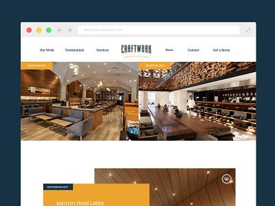 CraftWork Interior Web Page Layout logo branding website design