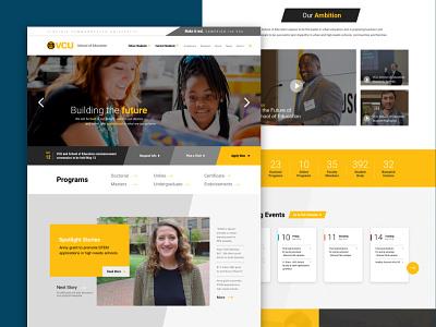 VCU SOE homepage mockup design website