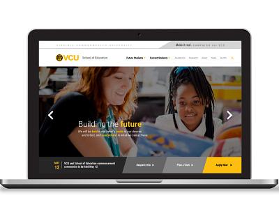 VCU School of Education Web Design Mockup design website