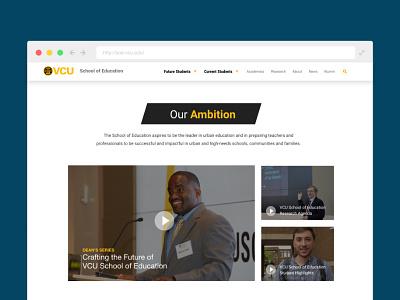 VCU SOE mockup design website
