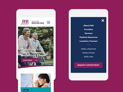 PAR Mobile view mobile responsive design