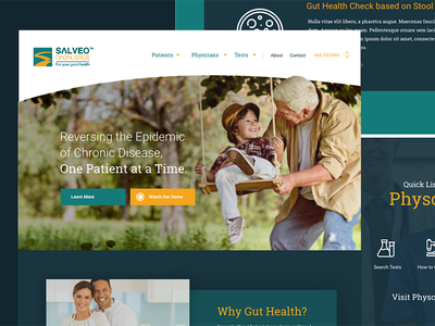 Salveo Diagnostics web website design