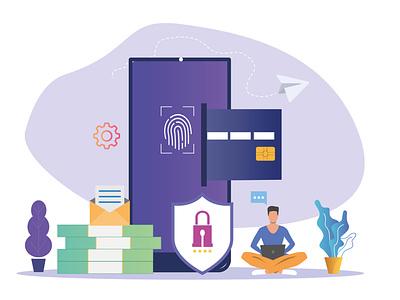 Payment Design Vector For Web art ui ux payment app payment vector minimal design