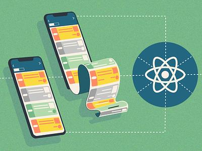Deep Linking in React Native - Scroll react native react mobile blog scroll link deep linking design vector