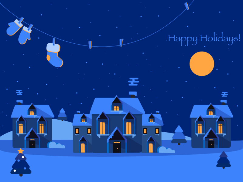 Night holidays christmas colour illustrator geometry design cute vector illustration