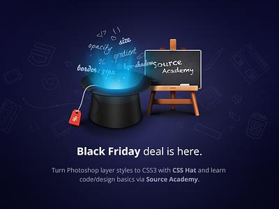 Black Friday deal is here. hat blackboard 3d illustration sale light black friday