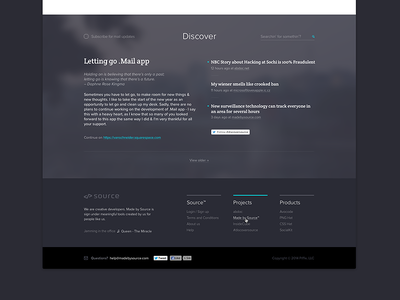 Footer source footer web design made by source