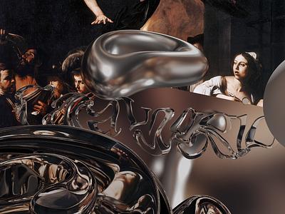 Caravaggio abstract 3d art art illustration caravaggio chrome 3d