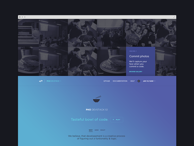 Pho Devstack pho devstack source website gradient flat web