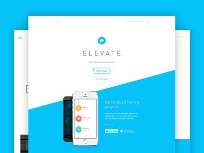 Introducing Elevate app landing iphone android ios web responsive elevate