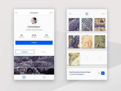 Curatr profile shelf curatr strv app ios