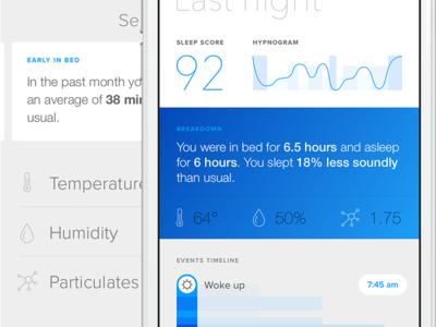 Hello - Unused concepts score sleep ios blue graphs ui