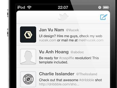 Twitter redesign twitter ios iphone retina white creamy