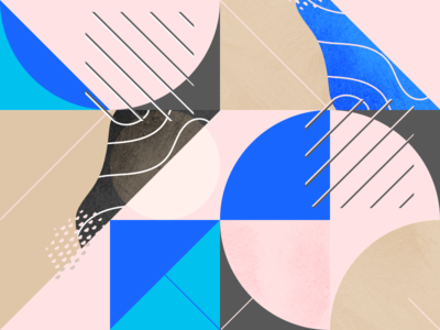 Abstract illustration exploration patterns shapes abstract