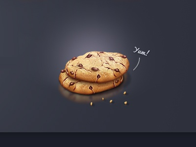 Cookies cookie illustration photoshop 3d cookies yum food